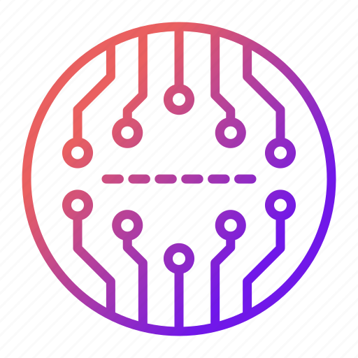 abstract, board, chip, cpu, electronics, technology icon