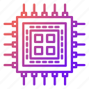 cpu, electronics, microchip, processor, technology icon