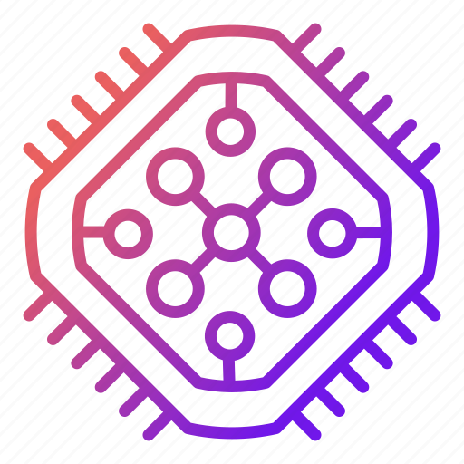 core, cpu, electronics, hardware, microchip, processor icon