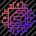 cpu, electronics, hardware, microscheme, processor icon
