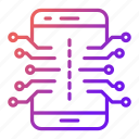 circuit, electronics, mobile, smartphone icon
