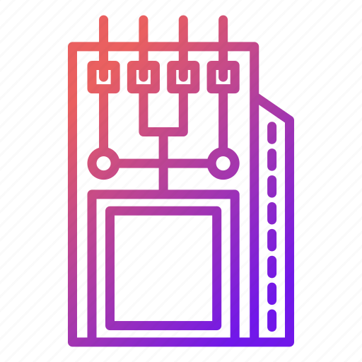 component, electronics, hardware, microchip, module icon