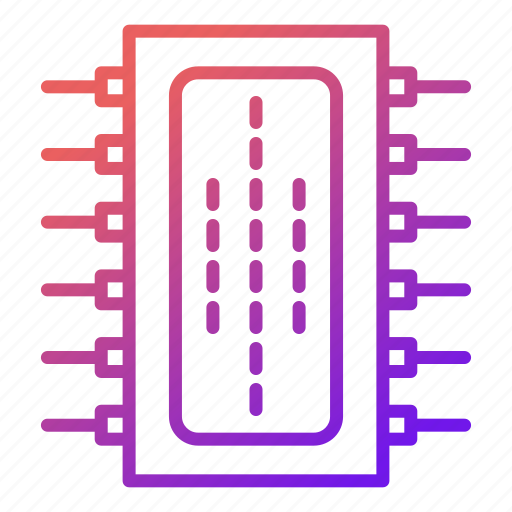 chip, component, cpu, electronic, equipment, hardware icon