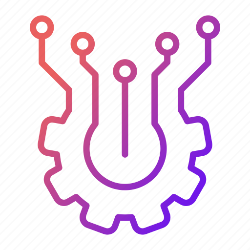 circuit, electronics, elements, gadget, hardware, tech icon