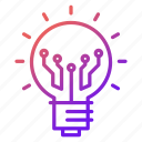 bulb, electronics, gadget, idea, innovation, solution, technology icon