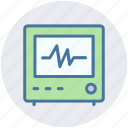 ecg, ecg machine, electrocardiograph, heart checkup, heart rate machine icon