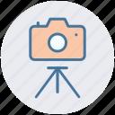 camera, digital camera, photo shot, photography, picture, tripod camera icon