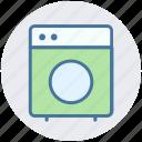 clothes, electronics, machine, washing, washing machine icon