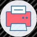 electronics, fax, fax machine, paper, printer icon