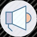 announcement, loud, megaphone, multimedia, sound, speaker icon