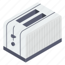 bread toaster, electronic appliance, household appliance, kitchenware, toaster icon