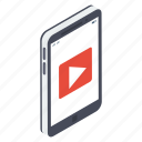 live streaming, mobile video, multimedia, video app, video player, video streaming icon