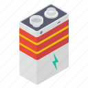 battery, electric supply, energy saver, power conservation, power storage icon