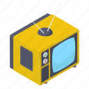 broadcast, retro screen, retro tv, television, tv, vintage tv icon