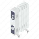 central heating system, electronic device, fan heater, heating fan, output device icon
