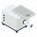 electronic device, kitchen appliance, meat grinder, meat mincer, output device icon