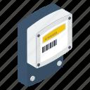 digital meter, electricity meter, energy meter, meter readings, power meter icon