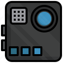 action, camera, devices, electronics, gadget, tools icon