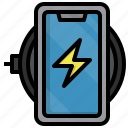 wireless, charger, devices, electronics, gadget, tools icon