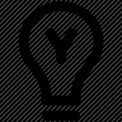 bulb, electric bulb, electricity, illumination, light, light bulb icon