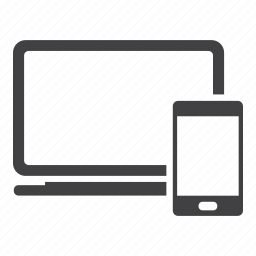 computer, labtop, mobile, notebook, smartphone icon
