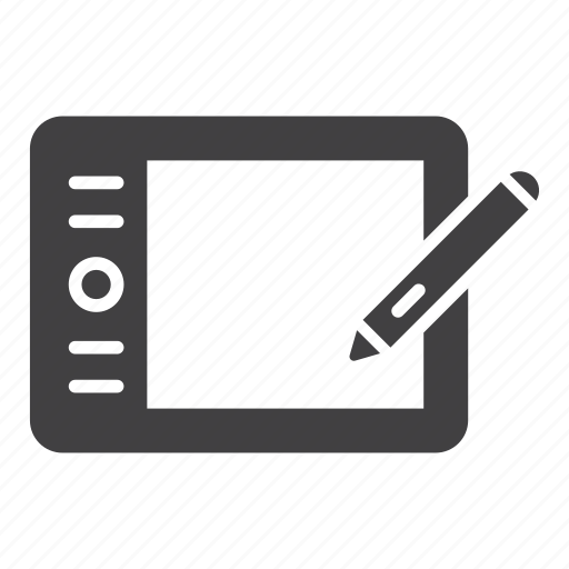 mouse, pen, stylus, tablet, wacom icon