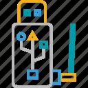 flash, flash signals, internet, internet device, internet flash, usb icon
