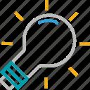 bulb, electric light, electrical bulb, illumination, light, light bulb, luminaire icon