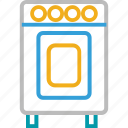 clothes washing, electrical appliance, electronics, home appliance, laundry, laundry machine, washing machine icon