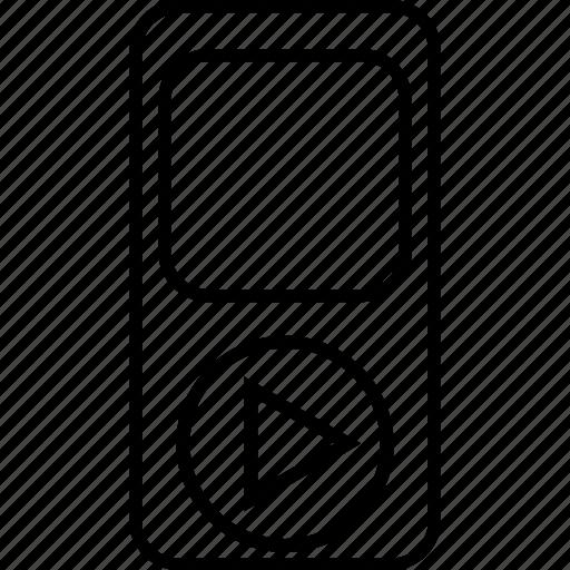 device, ios device, ipod, mp4 player, music, music player, walkman icon
