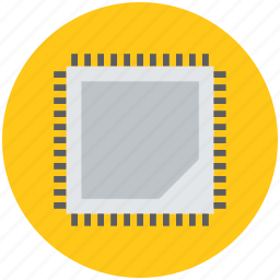 chip, computer chip, electronics, hardware, integrated circuit icon