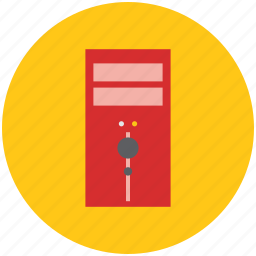 computer, hardware, micro computer, pc tower, personal computer, tower computer icon