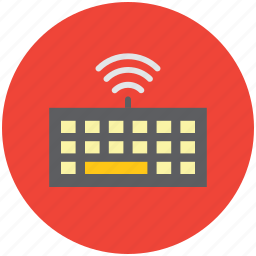 hardware, keyboard, wireless connectivity, wireless keyboard icon