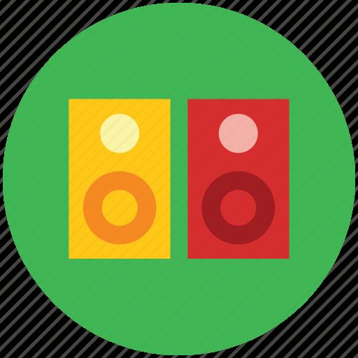 audio speaker, entertainment, loudspeaker, speakers, theater speaker, woofers icon
