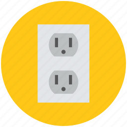electric socket, plug socket, plugin, power plug, socket, wiring accessories icon