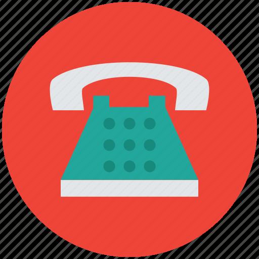 landline, phone, retro telephone, telephone, telephone set icon