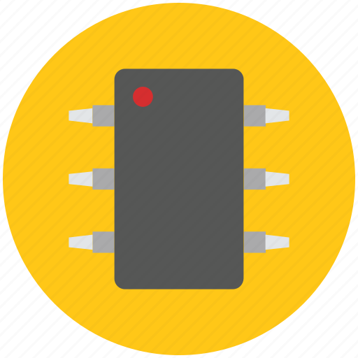 chip, circuit, electronic, integrated, integrated circuit, microchip icon