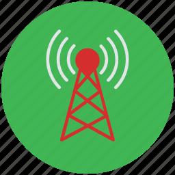 antenna, internet tower, radio antenna, tower, wifi antenna, wlan antenna icon