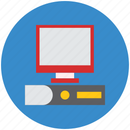computer, computer system, desktop pc, monitor, pc, personal computer icon