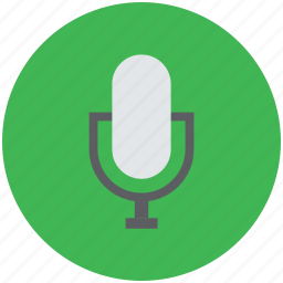colloquially mic, mic, microphone, mike, sound mike icon