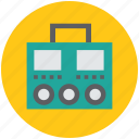 audio-cassette player, cassette player, recorder, tape deck, tape recorder icon