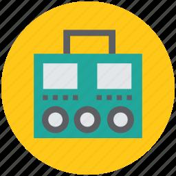 audio-cassette player, cassette player, recorder, tape deck, tape recorder icon