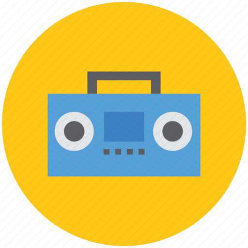 audio cassette player, cassette player, recorder, tape deck, tape recorder icon