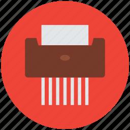 machine, office equipment, paper chad machine, paper shredder, shredder icon