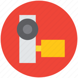camcorder, handy camera, handycam, movie camera, video camera icon