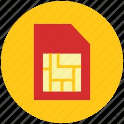 memory card, micro sd, sd, sd chip, sim, sim card icon