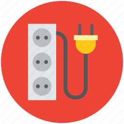 cable outlet, plug socket, power plug, power socket, power supply icon