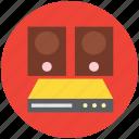 dvd player, loudspeaker, music system, speaker, woofers icon