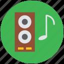 audio speaker, loudspeaker, speakers, theater speaker, woofers icon