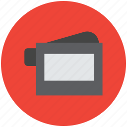 camcorder, handy camera, handycam, mini camera, movie camera, video camera icon